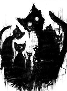 به حرف گربه سیاه باران نمی آید